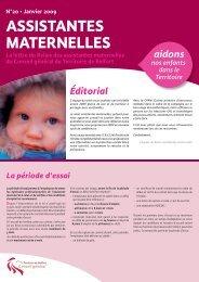 ASSISTANTES MATERNELLES - Territoire de Belfort