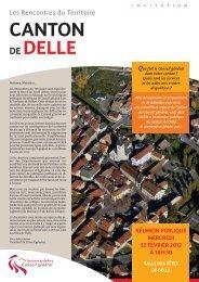 Télécharger le document d'information du Canton de Delle