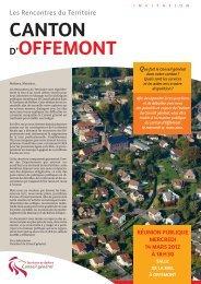 CANTON D'OFFEMONT - Territoire de Belfort