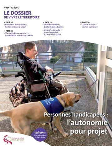 Personnes handicapées - Conseil général
