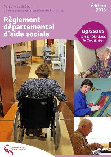 Télécharger le règlement départemental d'aide sociale - édition 2013