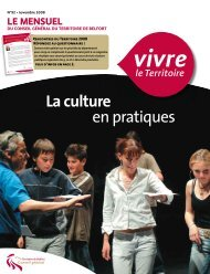 Magazine n° 92 novembre 2008 - Territoire de Belfort
