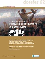 Dossier 15e édition des Eurockéennes - Territoire de Belfort