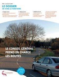 le conseil général prend en charge les routes - Territoire de Belfort