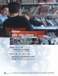 Dossier Les collèges - Territoire de Belfort
