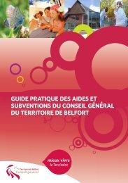 Télécharger le guide pratique des aides et subventions du Conseil ...