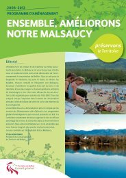 ENSEMBLE, AMÉLIORONS NOTRE MALSAUCY - Territoire de Belfort