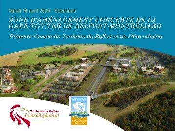 La gare TGV - Territoire de Belfort