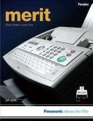 Plain Paper Laser Fax UF-6200 - Panasonic