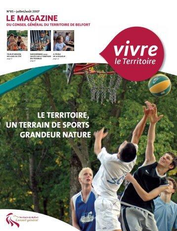 Magazine n°85 juillet août 2007 - Territoire de Belfort