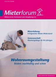 Mieterforum Dortmund - Ausgabe III/2014 (Nr. 37)