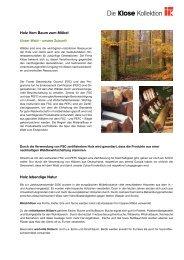 Infos & Pflegehinweise - Die Klose Kollektion