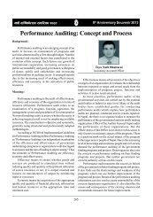 Performance Auditing: Concept and Process