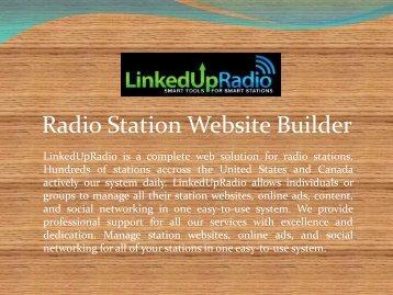 Radio Station Website Builder