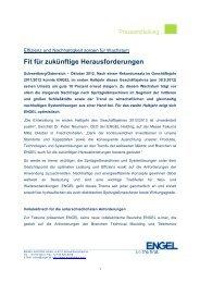 Fit für zukünftige Herausforderungen - Engel Austria
