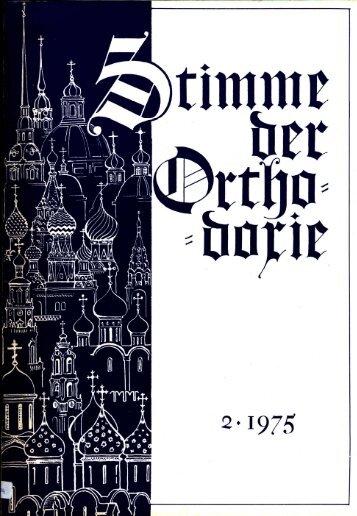 Gesamte Zeitschrift in besserer Qualität herunterladen - Orthodoxe ...