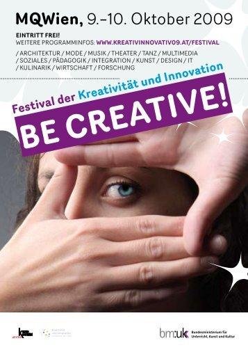 BE CREATIVE Flyer - Creativwirtschaft.at