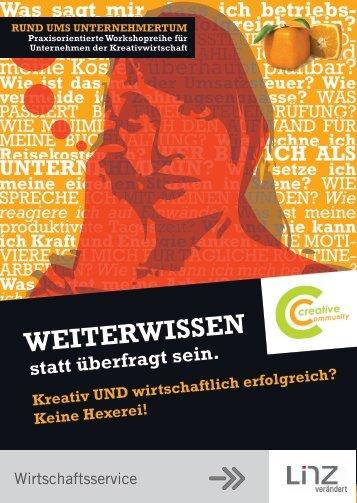 """Workshopreihe """"Rund ums Unternehmertum"""" - Creativwirtschaft.at"""