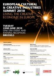 3. Europäischen Jahrestagung der Kultur - Creativwirtschaft.at