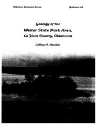 Geology of the Wister State Park area, Le Flore County, Oklahoma