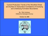Current Production Trends of the Woodford Shale and Surface to ...