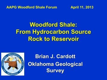 Woodford Shale: From Hydrocarbon Source Rock to Reservoir