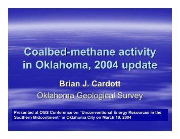 Coalbed-methane activity in Oklahoma, 2004 update Brian J. Cardott
