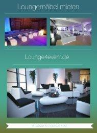 Loungemöbel mieten - lounge4event