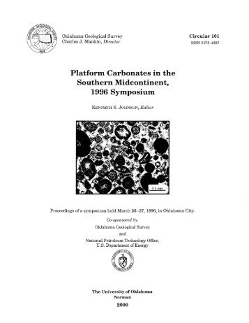 Platform carbonates in the southern Midcontinent, 1996 - Oklahoma ...