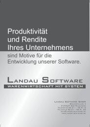 Flyer (PDF) hier - Landau Software GmbH