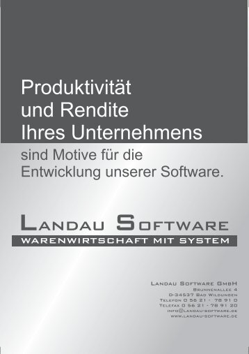 Flyer (PDF) hier - Landau Software GmbH