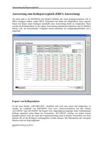 Auswertung zum Kollegenvergleich - Landau Software GmbH