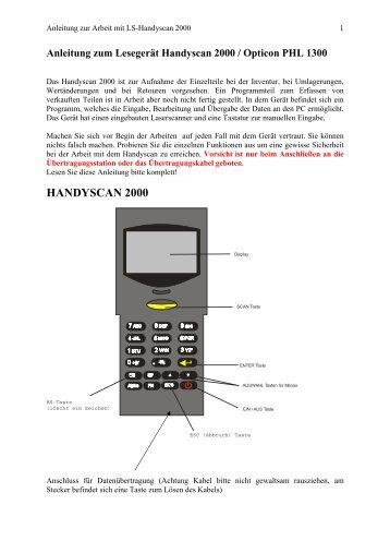 HANDYSCAN 2000 - Landau Software GmbH