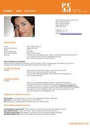 Lebenslauf (PDF) - Petra Peschel