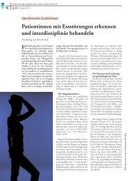 Patientinnen mit Essstörungen erkennen und ... - Petra Peschel
