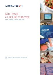 AIR FRANCE A L'HEURE CHINOISE