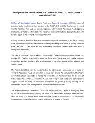 Immigration law firm in Fairfax, VA - Patel Law Firm LLC, Joins Tucker & Associates PLLC