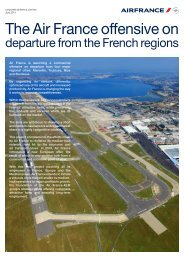 departure from the French regions - Air France
