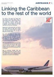 Linking the Caribbean to the rest of the world - Air France