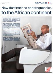 New destinations and frequencies to the African continent - Air France