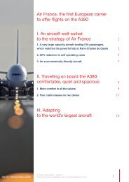 Air France, the first European carrier to offer flights on the A380 I. An ...