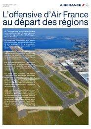 L'offensive d'Air France au départ des régions