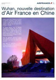 Wuhan, nouvelle destination d'Air France en Chine