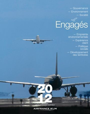 Rapport développement durable 2012 - Air France-KLM Finance