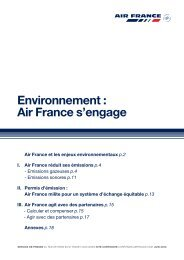 'Environnement, Air France s'engage'