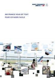 AIR FRANCE VOUS DIT TOUT POUR VOYAGER FACILE