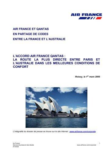 L'ouverture de Paris-Canton, - Air France