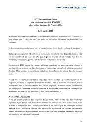 Intervention JC SPINETTA - Air France