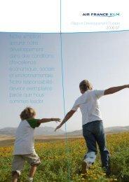 Rapport de Développement Durable 2006-07 - Air France-KLM ...