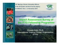 Impact Assessment Survey of the ITTO Fellowship ... - Development